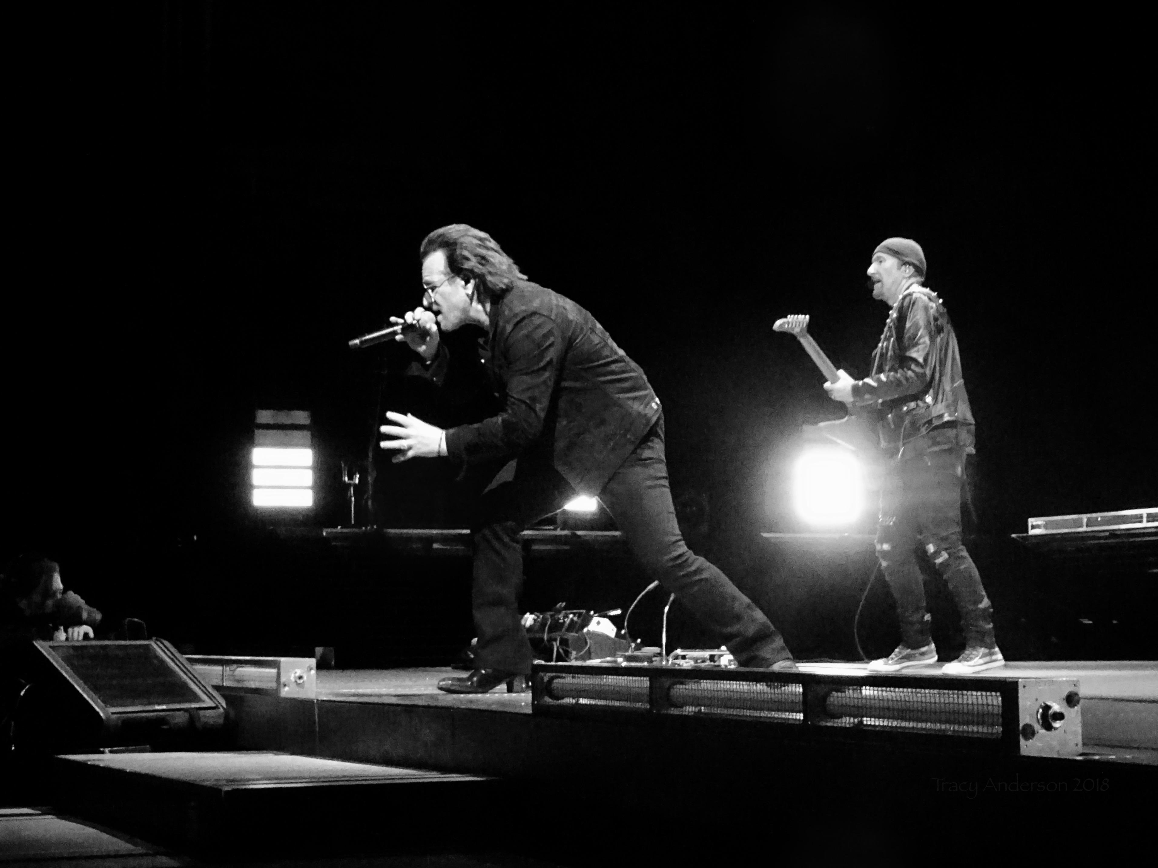 Bono Edge B&W U2 Dublin 3 3Arena Nov 9 2018