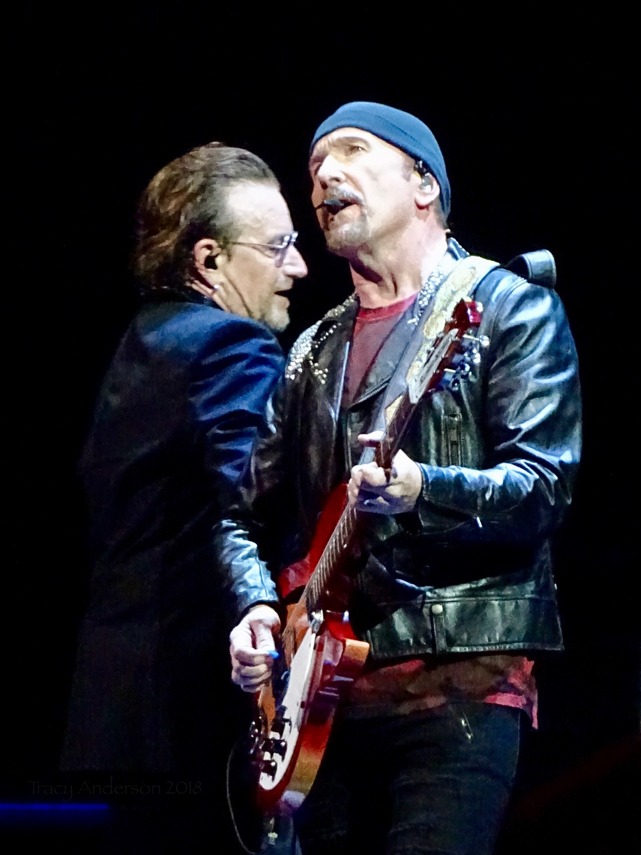 Bono Edge Catwalk Close UpU2 Dublin 1 3Arena Nov 5 2018