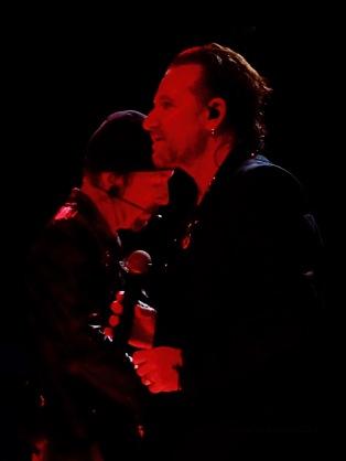 Bono Edge Red Close Up U2 Dublin 1 3Arena Nov 5 2018