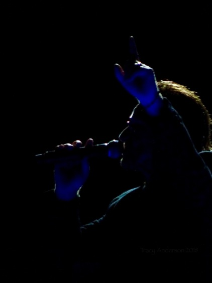 I love these backlit photos! Bono U2 Dublin 2 3Arena Nov 6 2018