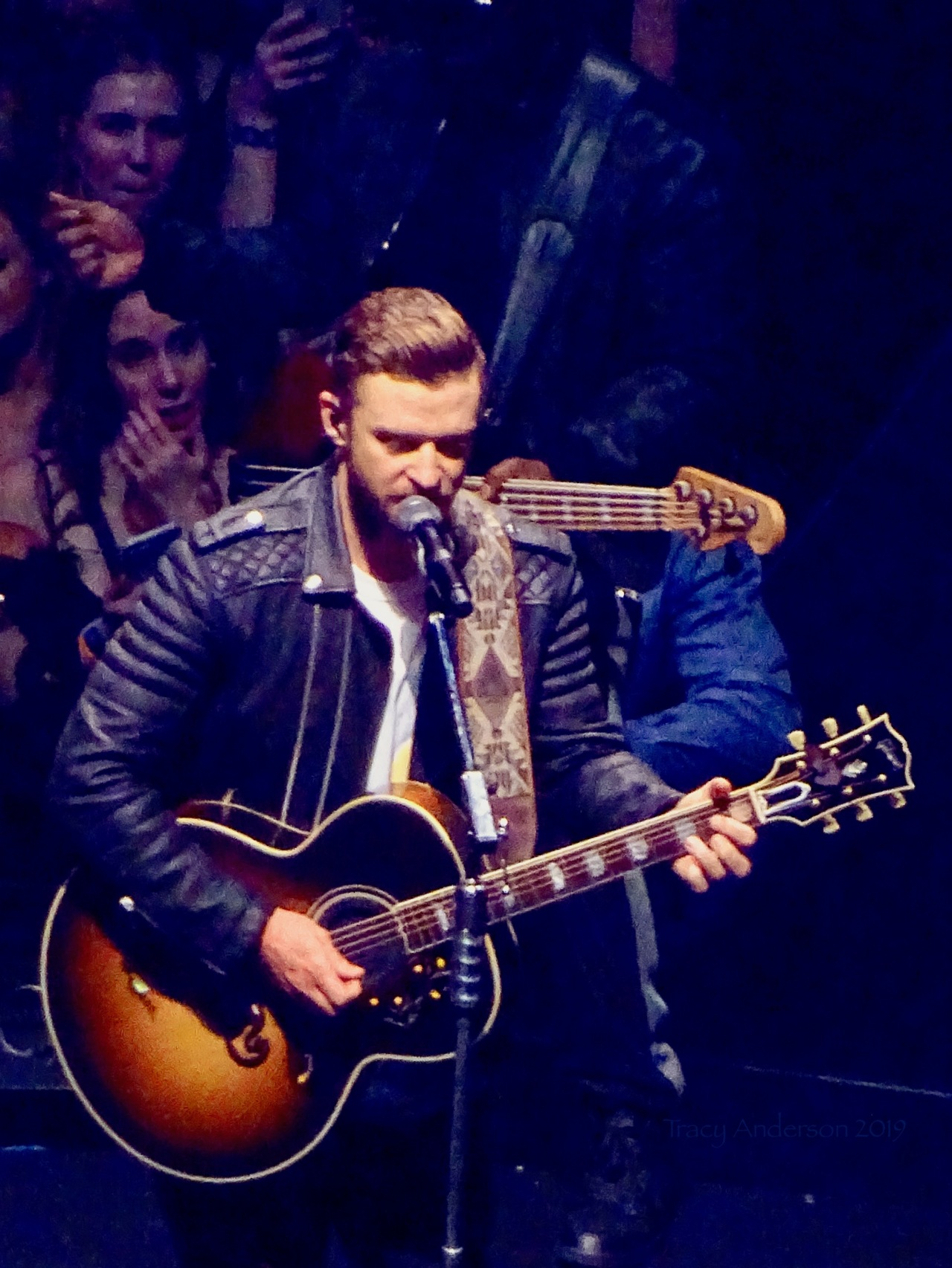 Justin Timberlake with Guitar Man Of The Woods Tour Rogers Place Feb 6 2019