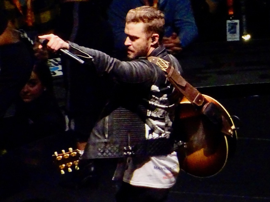 Justin Timberlake Man Of The Woods Centre Guitar Close Up Rogers Place Feb 6 2019