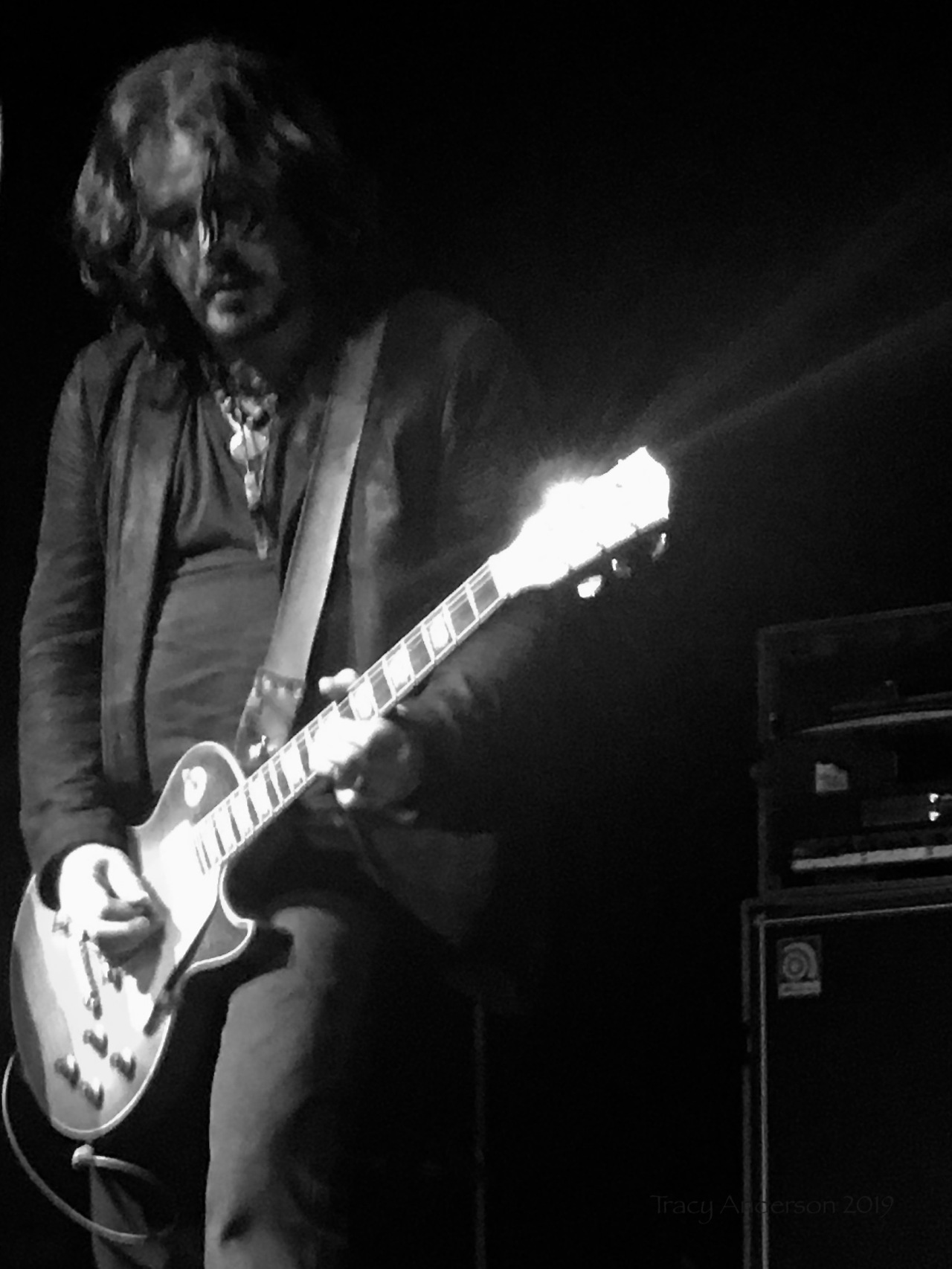 Jeff Martin Guitar light bw The Tea Party Black River Tour May 4 2019