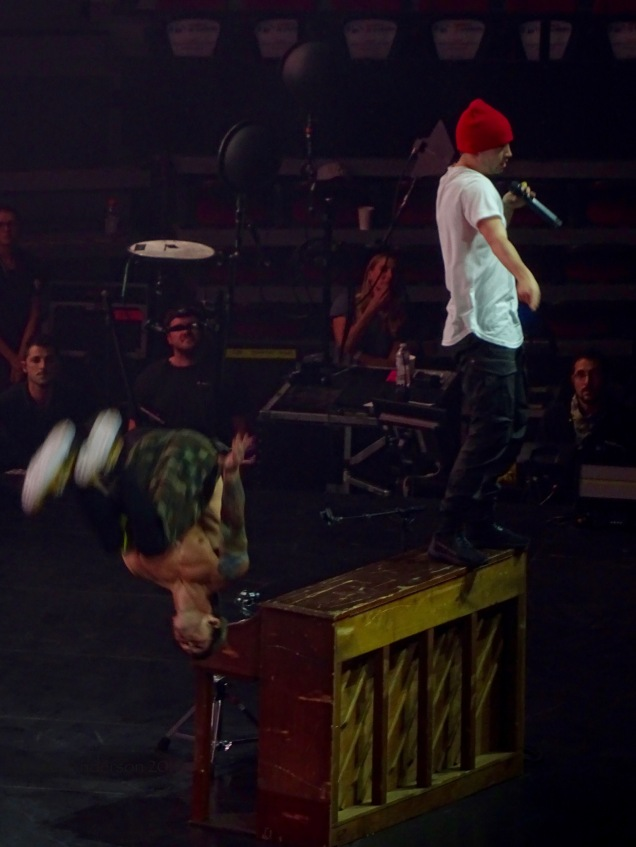 Josh Dun Backflip and Tyler Joseph Twenty One Pilots Bandito Tour Scotiabank Saddledome Calgary May 14 2019