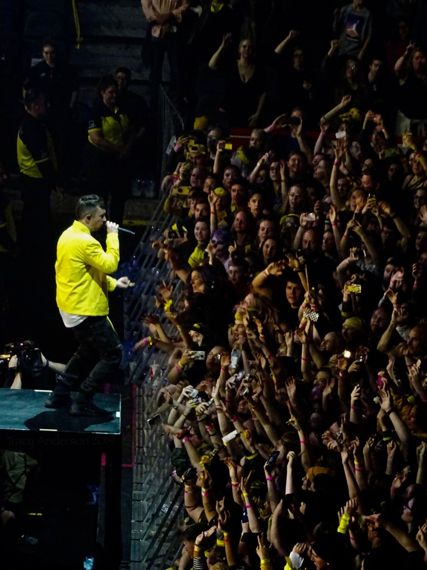 Tyler Joseph and Audience Twenty One Pilots Bandito Tour Scotiabank Saddledome Calgary May 14 2019