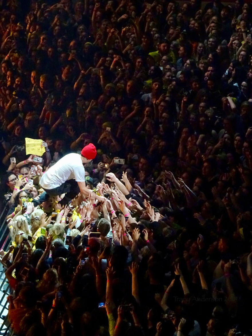 Tyler Joseph Crowd Surf Twenty One Pilots Bandito Tour Scotiabank Saddledome Calgary May 14 2019