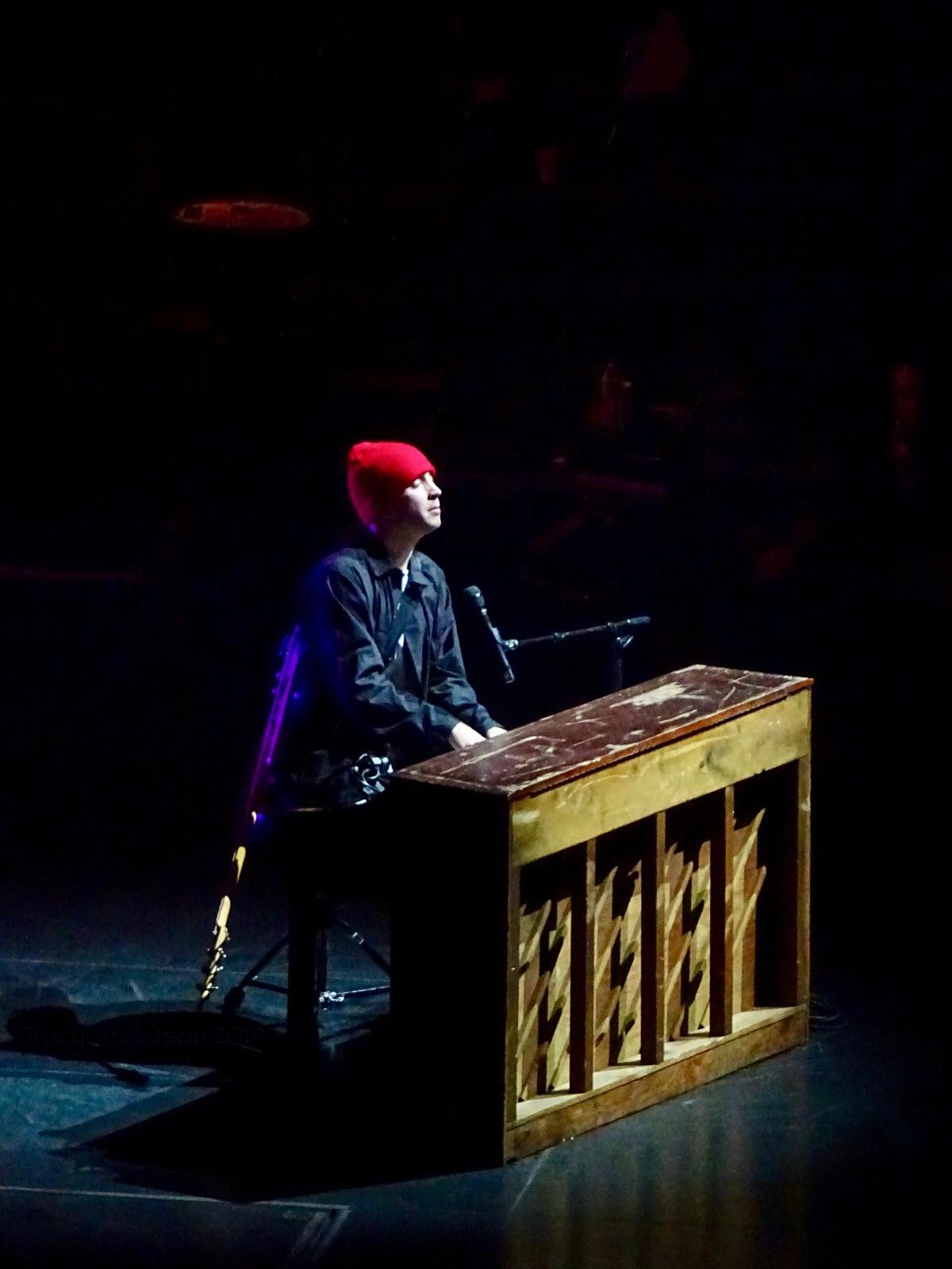 Tyler Joseph Piano Red Hat Twenty One Pilots Bandito Tour Scotiabank Saddledome Calgary May 14 2019