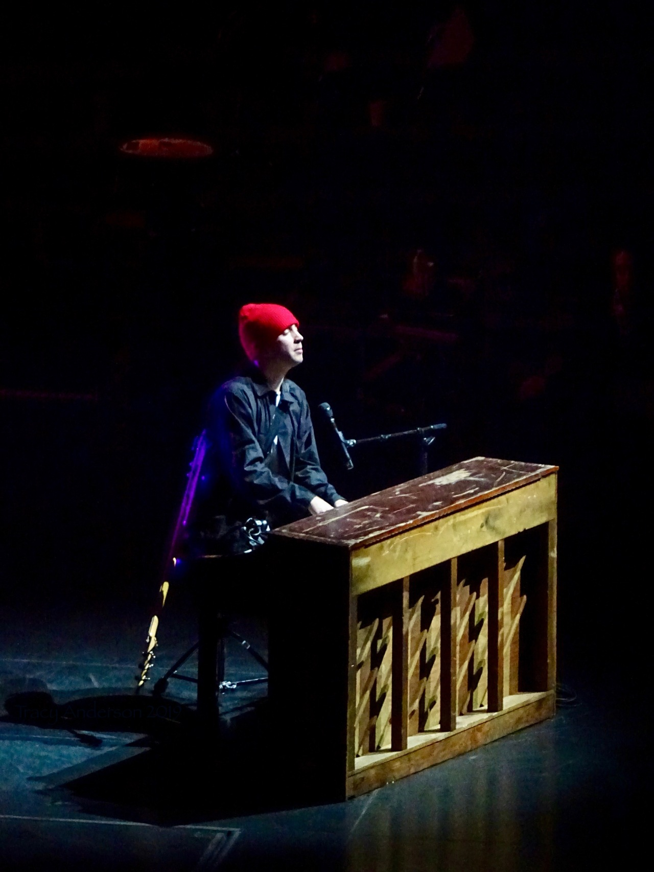 Tyler Joseph Piano Red Hat Twenty One Pilots Bandito Tour Scotiabank Saddledome Calgary May 14 2019