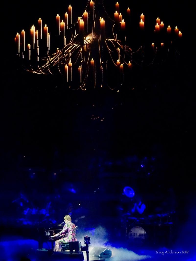 Elton John chandelier Farewell Tour Edmonton Sept 27 2019