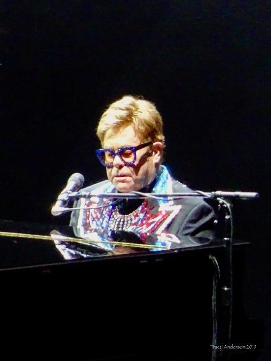 Elton John close up 2 Farewell Tour Edmonton Sept 27 2019