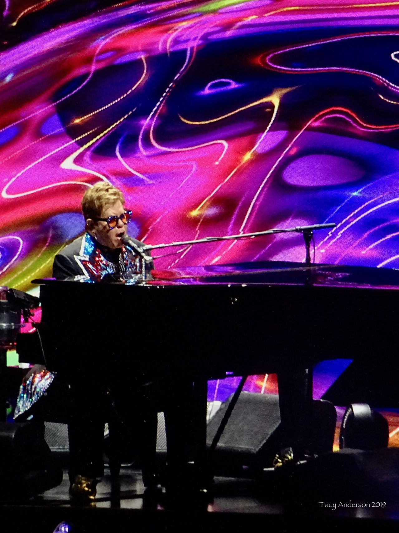 Elton John colours Farewell Tour Edmonton Sept 27 2019