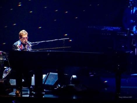 Elton John grand piano Farewell Tour Edmonton Sept 27 2019