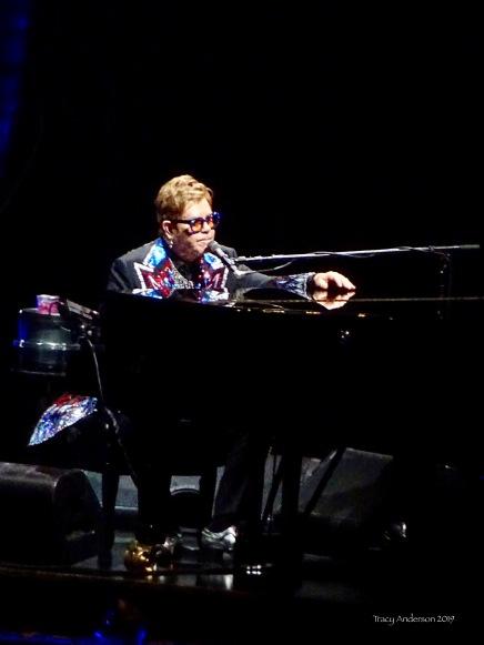 Elton John pensive Farewell Tour Edmonton Sept 27 2019