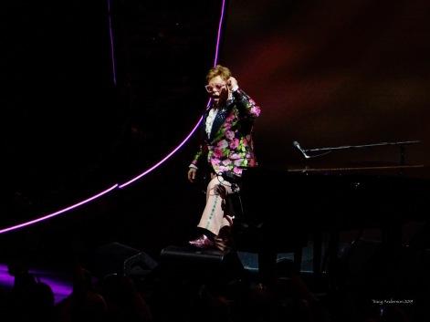 Elton John standing Farewell Tour Edmonton Sept 27 2019