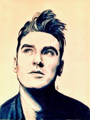 Morrissey by Tracy Anderson 2019, conte crayon