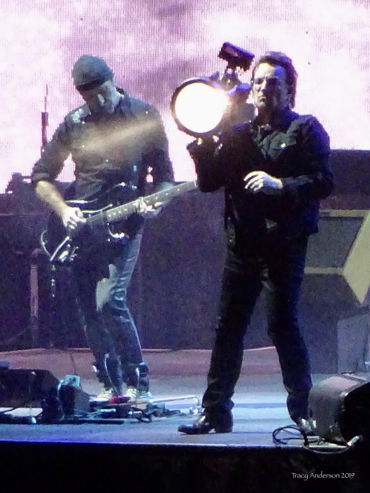 Bono and The Edge BTBS light U2 The Joshua Tree Tour Perth Nov 27 2019