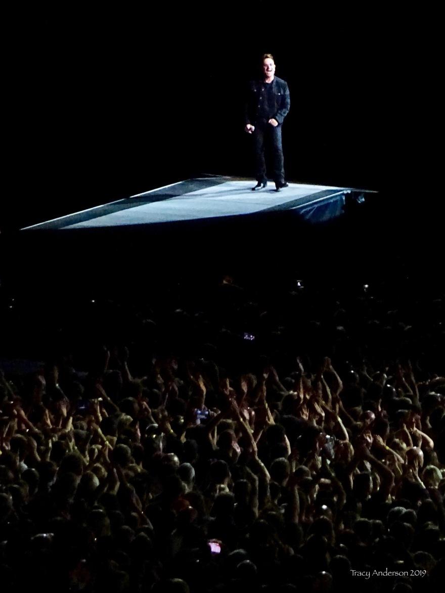 Bono on a pedestal U2 The Joshua Tree Tour Perth Nov 27 2019