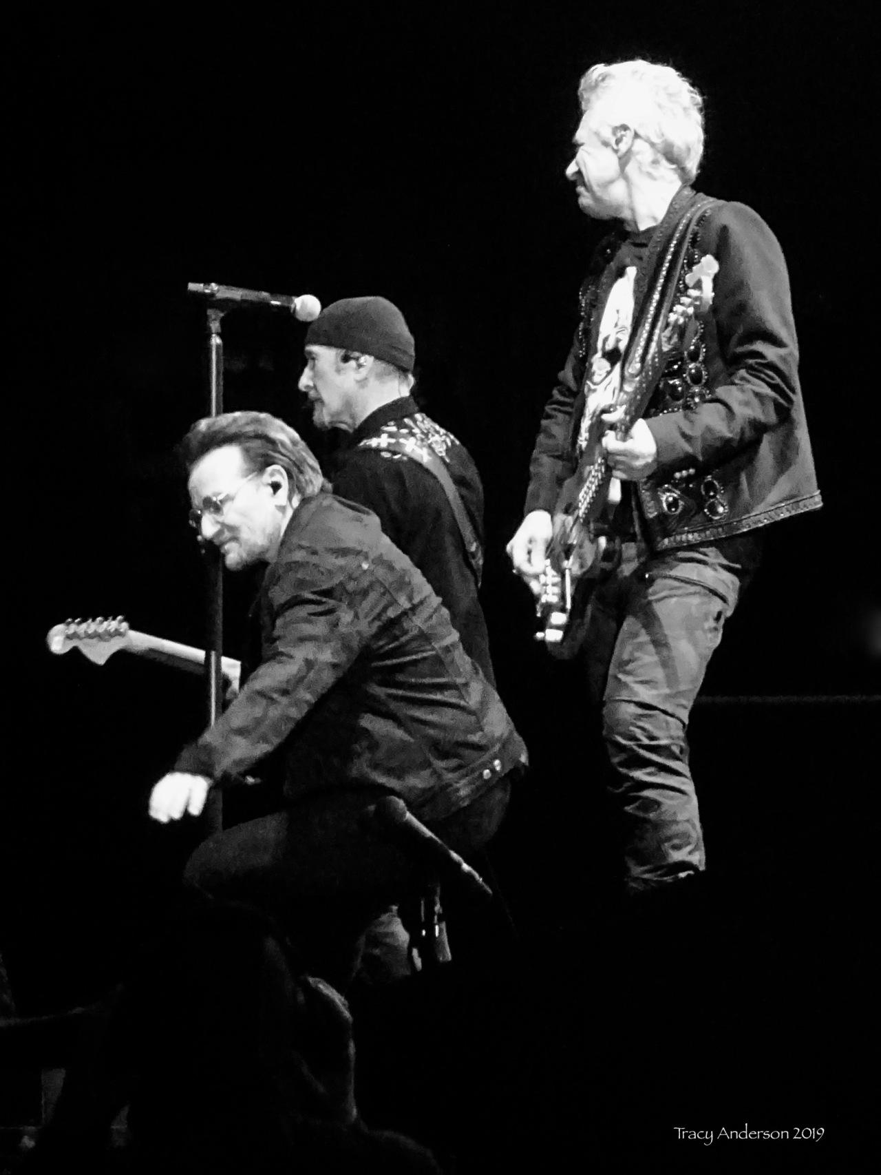 Bono, The Edge, Adam Clayton U2 The Joshua Tree Tour Sydney Nov 22 2019