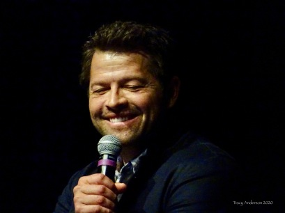 Misha Collins smile 2 SPNLV Mar 2020